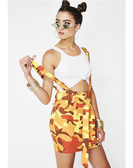 Baddies Only Suspender Dress