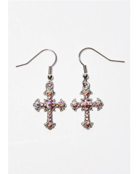 Don't Praise Em' Cross Earrings
