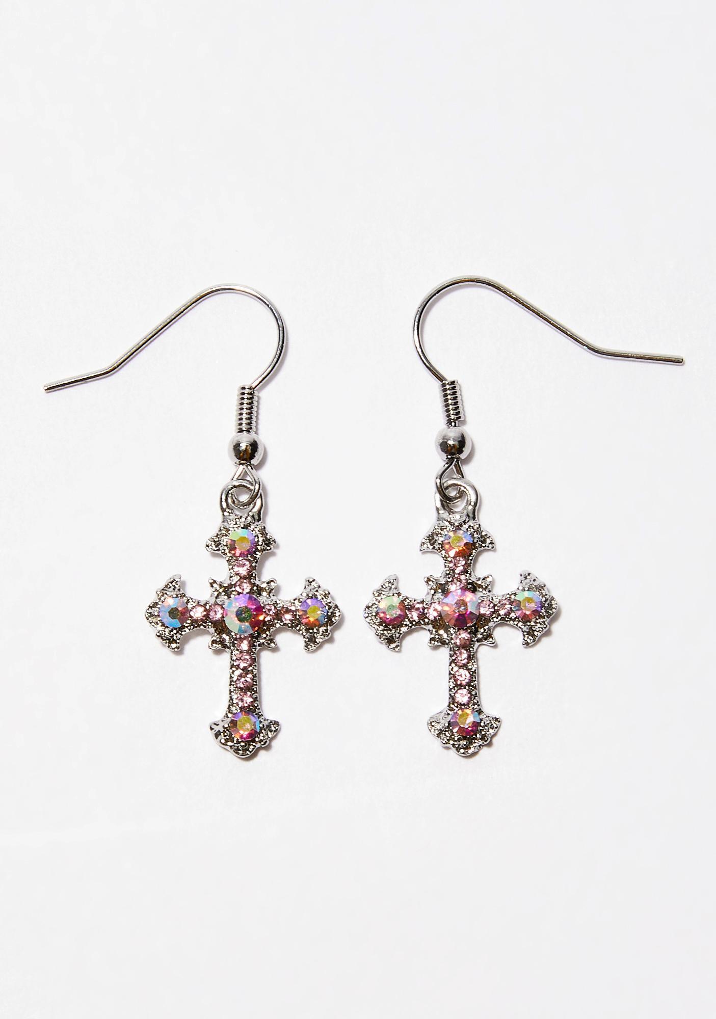 Don't Praise Em' Cross Earrings