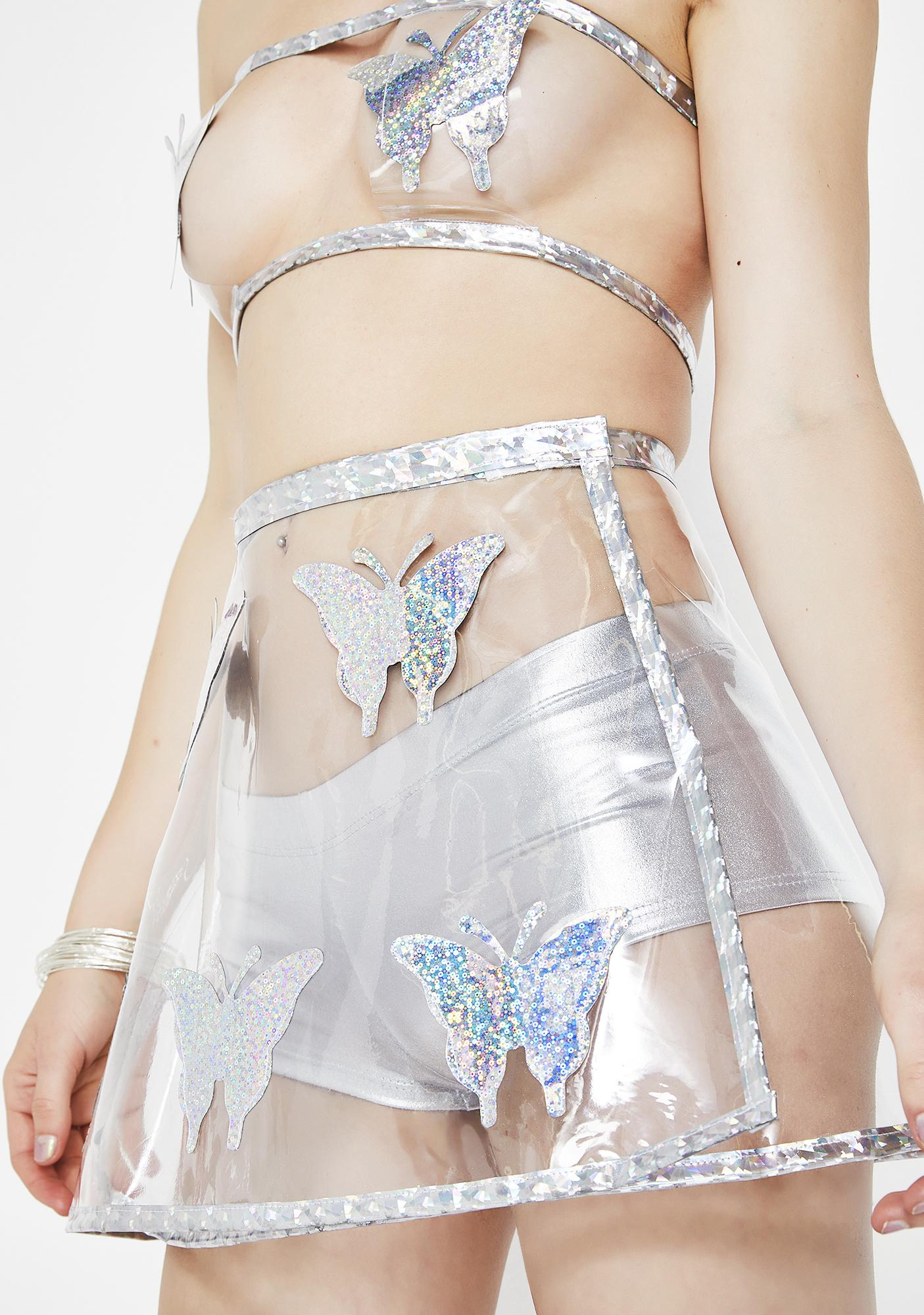 Smoking Daisies Freaky Fly Butterfly Skirt