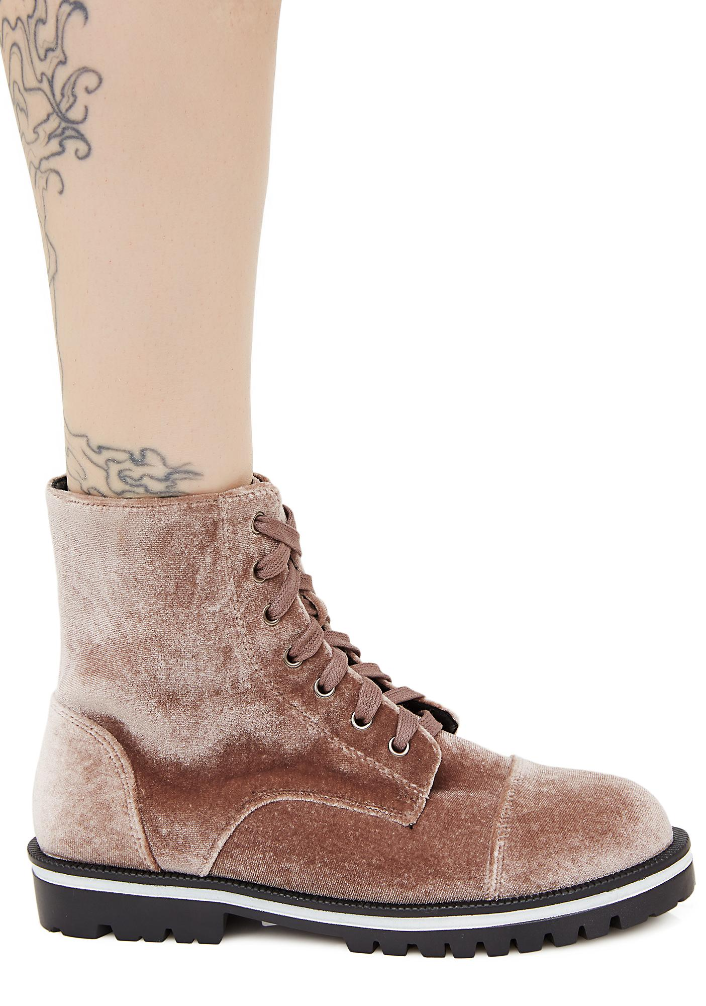 Taupe Yr All That Velvet Boots
