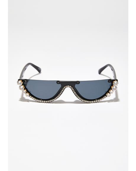 Crystal Vizion Half Sunglasses