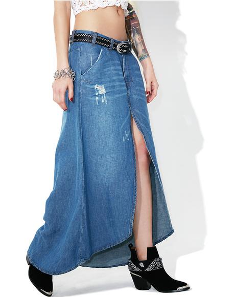 California Blue Mrs. Carter Skirt