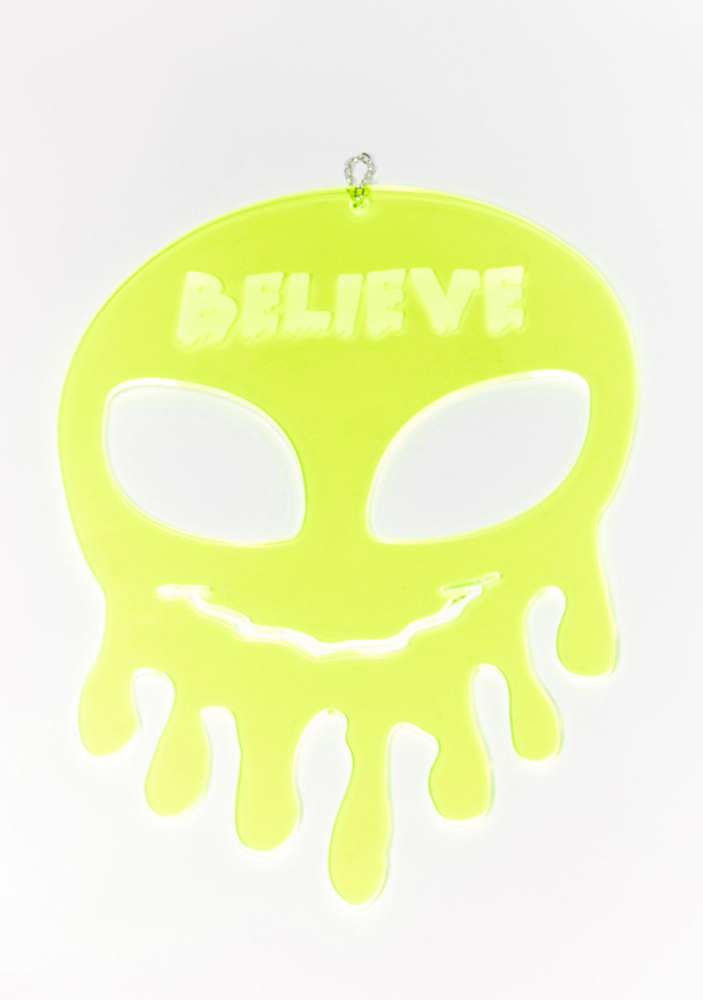 Rolita Rave Couture Believe Dripping Alien Wall Hang