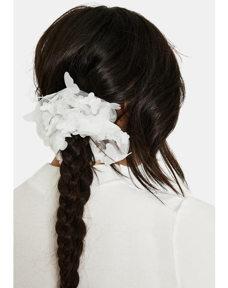 Pure Patch Of Sun Sheer Butterfly Scrunchie