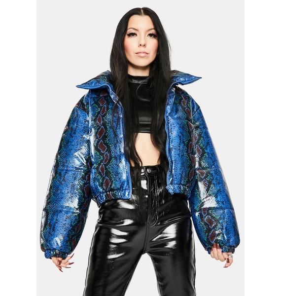 AZALEA WANG Snake Midtown Puffer Jacket