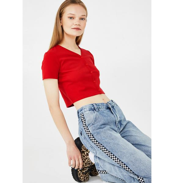 dELiA*s by Dolls Kill Out Of Faith Crop Top