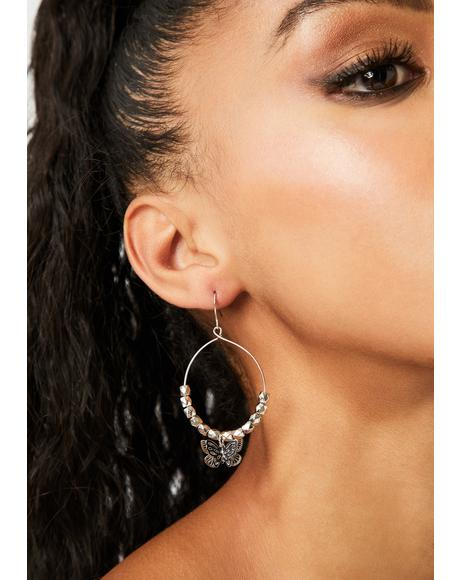Fly On Hoop Earrings