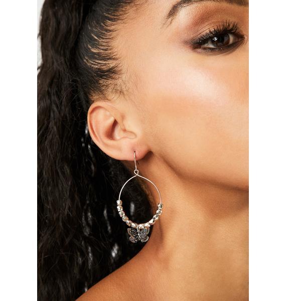 Fly On Hoop Earrings