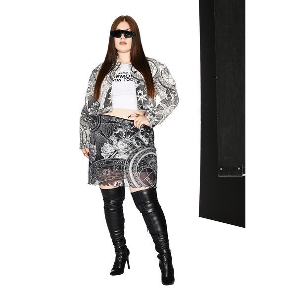 HOROSCOPEZ She's On The Rise Mesh Mini Skirt