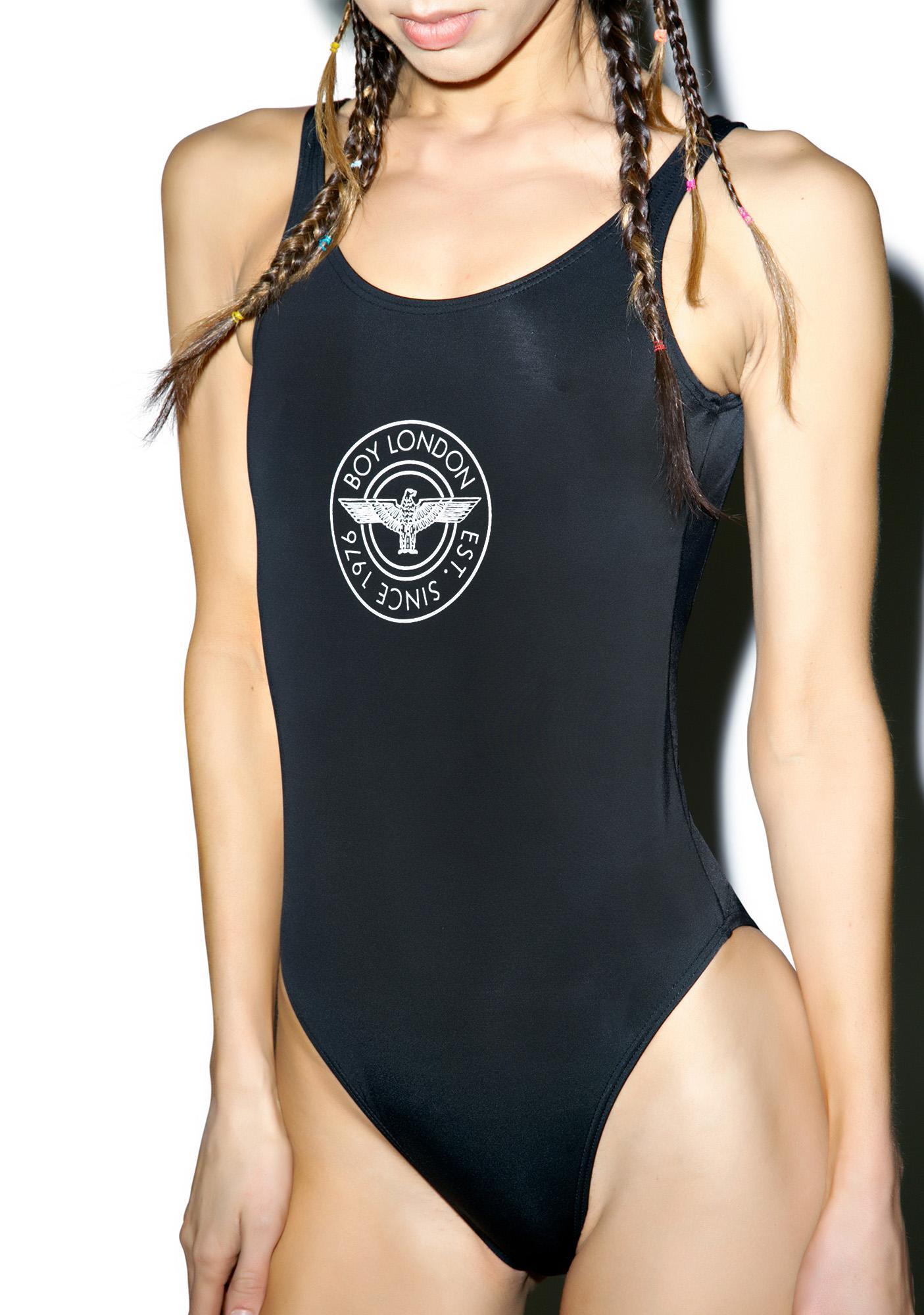 BOY London BOY 1976 Logo Swimsuit