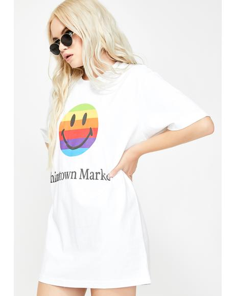 Smiley Apple Graphic Tee