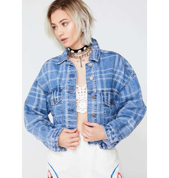 Zee Gee Why Check Me Out Denim Jacket