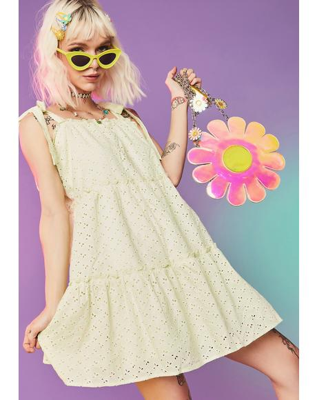 Dude Gimme Some Sugar Eyelet Babydoll Dress