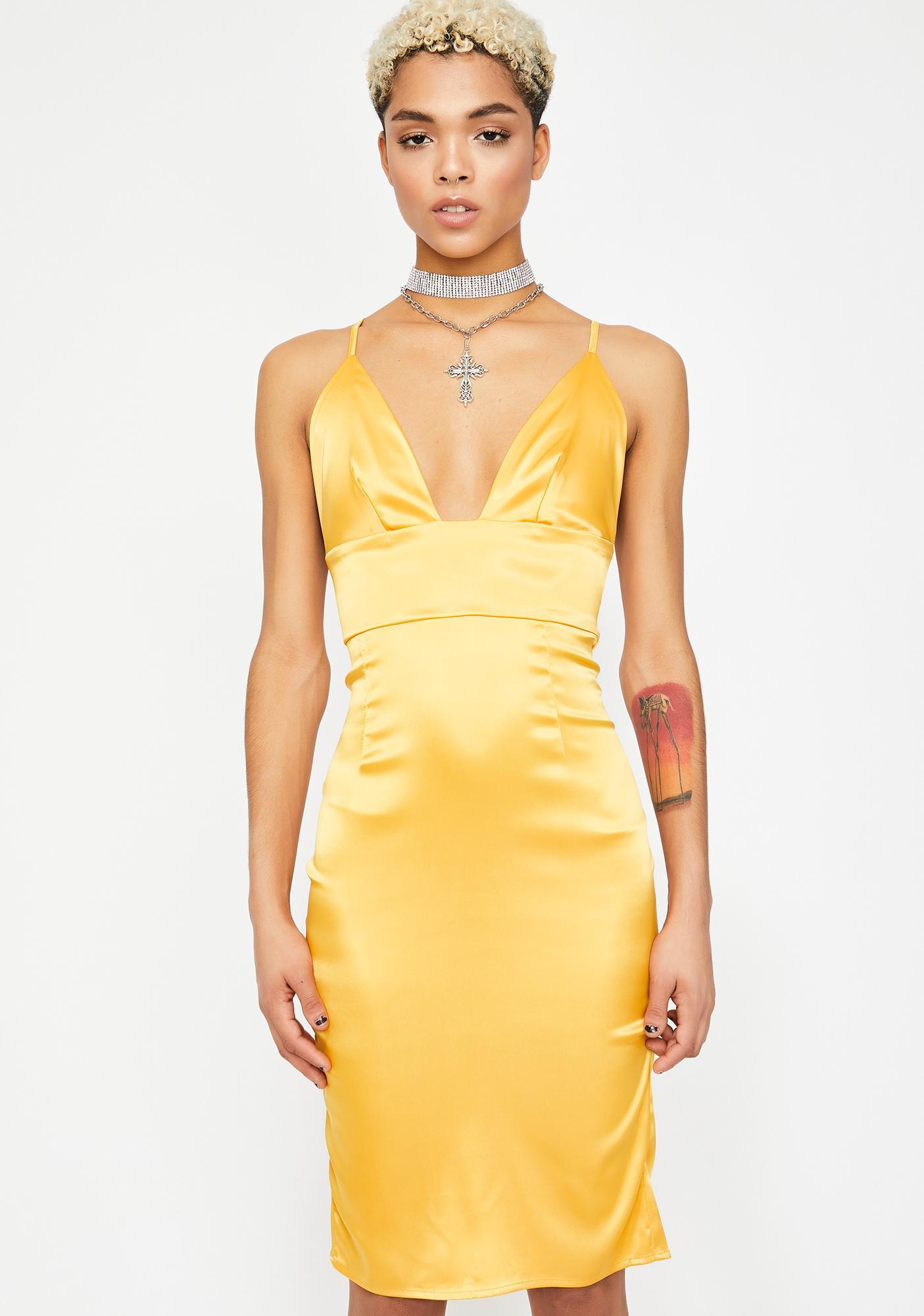 Bodak Buy Me A Drink Satin Dress