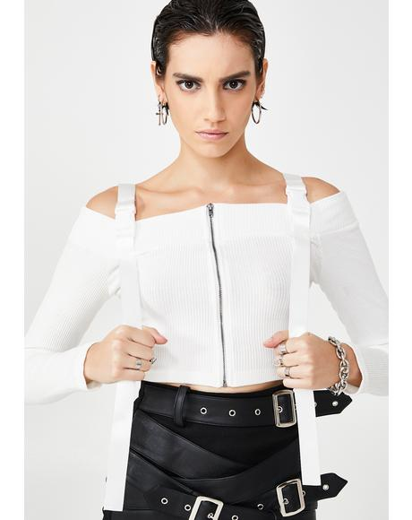 Buckle Up Crop Top
