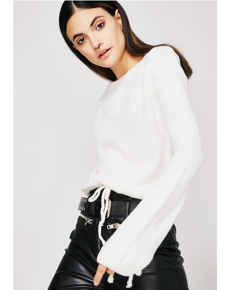 Rising Tied Cropped Sweater