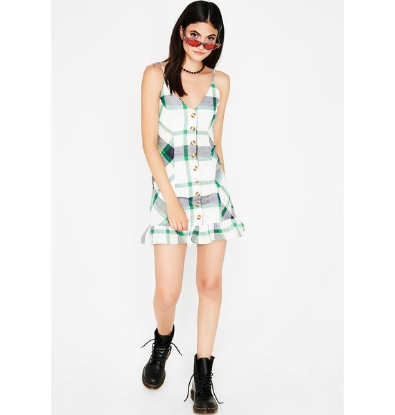Can't Stop Me Plaid Dress