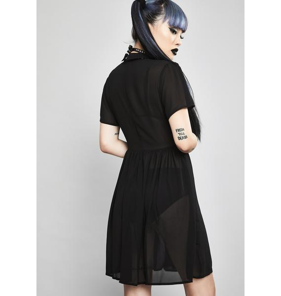 Widow Not Afraid Babydoll Dress