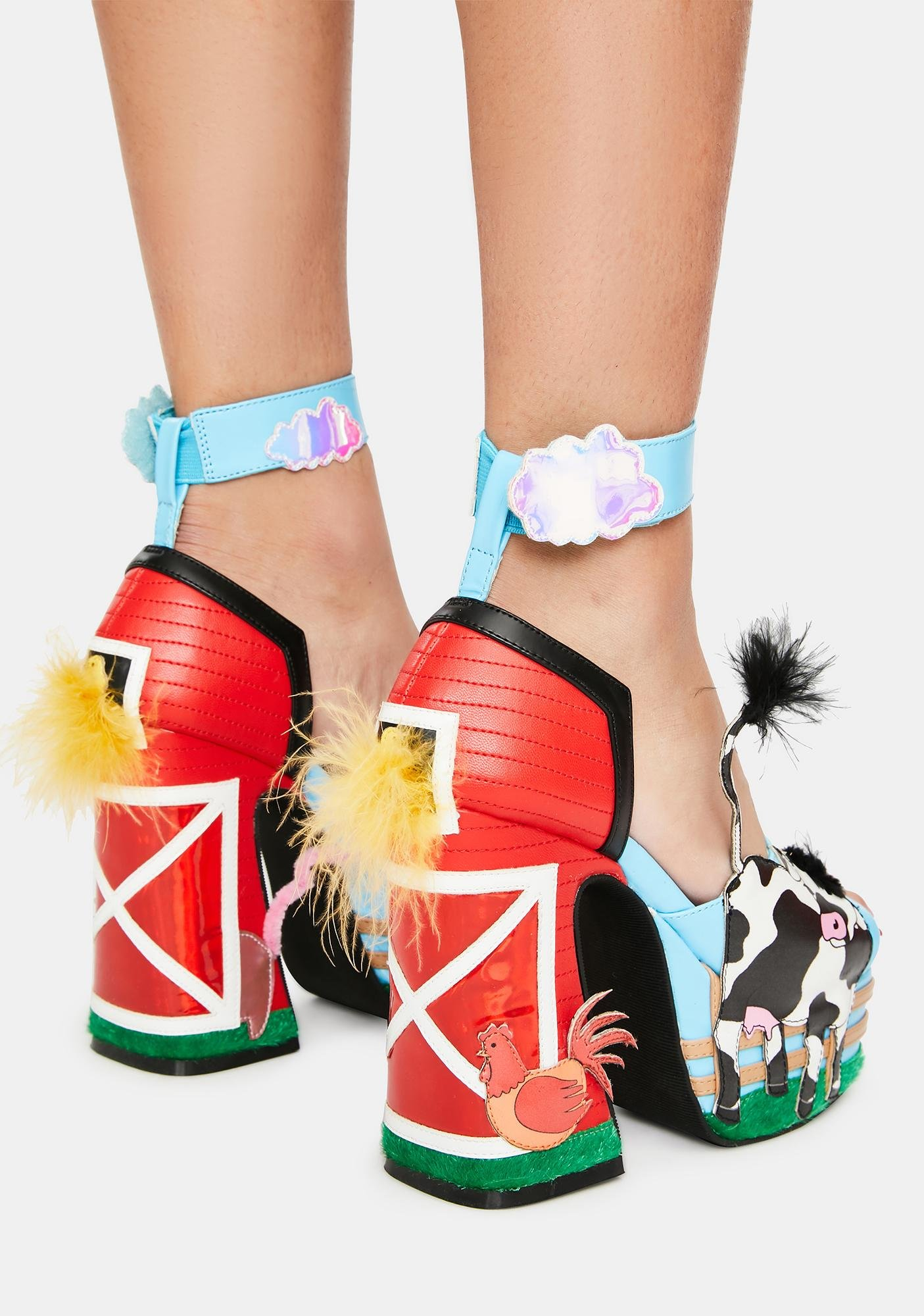 dELiA*s by Dolls Kill Animal Playhouse Platform Heels