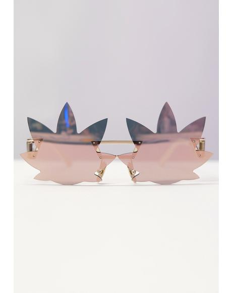 Gold Leaf Speqz Sunglasses
