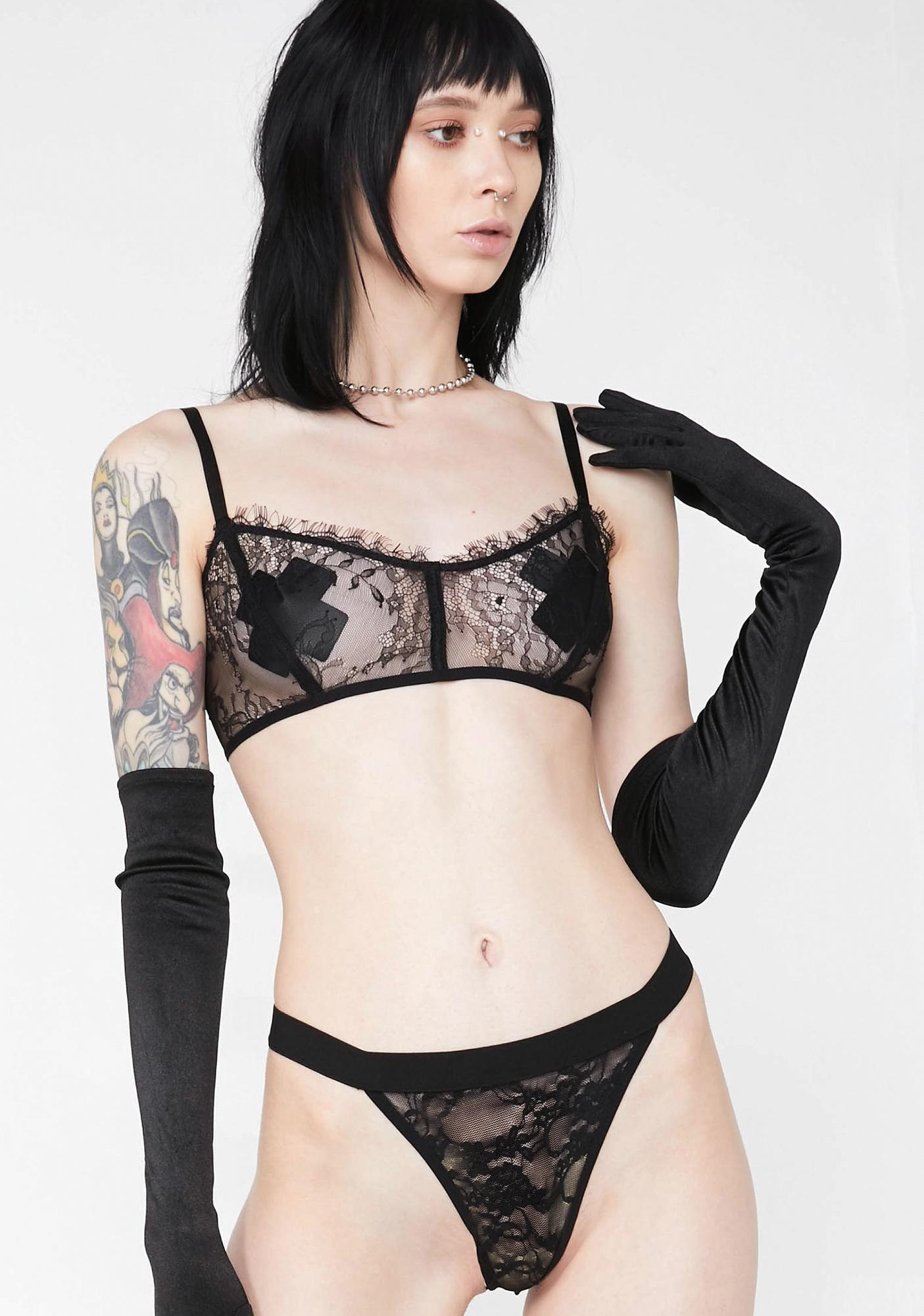 ee47e0c71b Lace Bra And Thong Lingerie Set