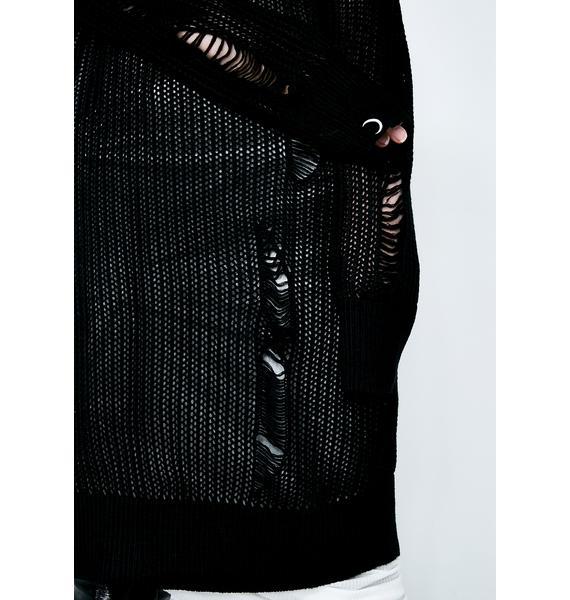 Killstar Dee Sturbed Knit Sweater