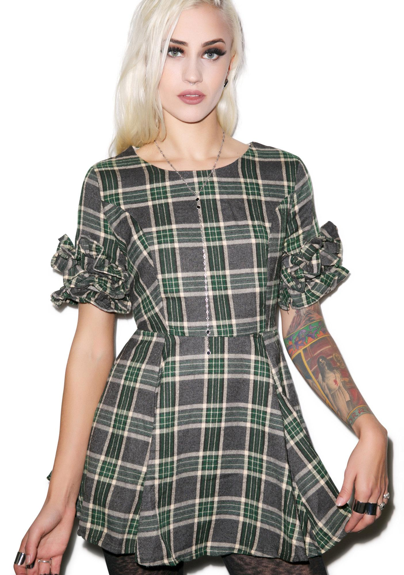 Devil Wore Plaid Dress