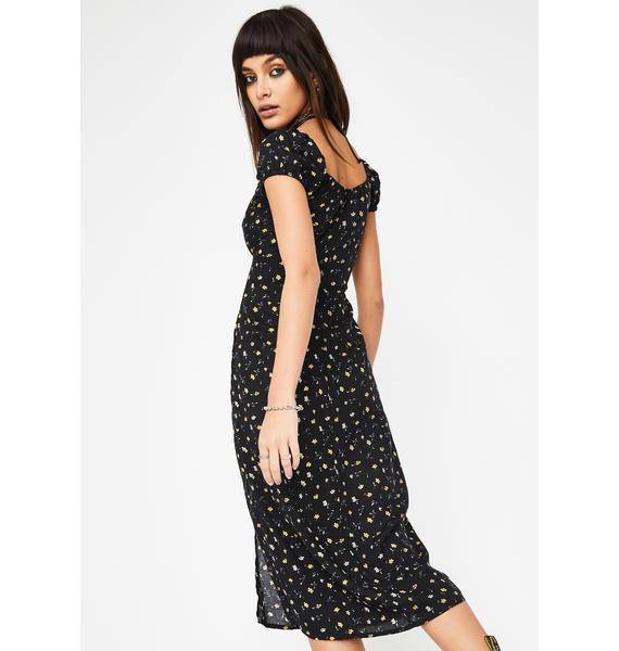 Motel Black Milla Midi Dress
