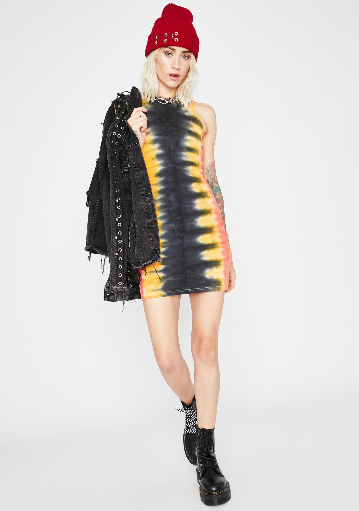 Stressed Out Tie Dye Mini Dress