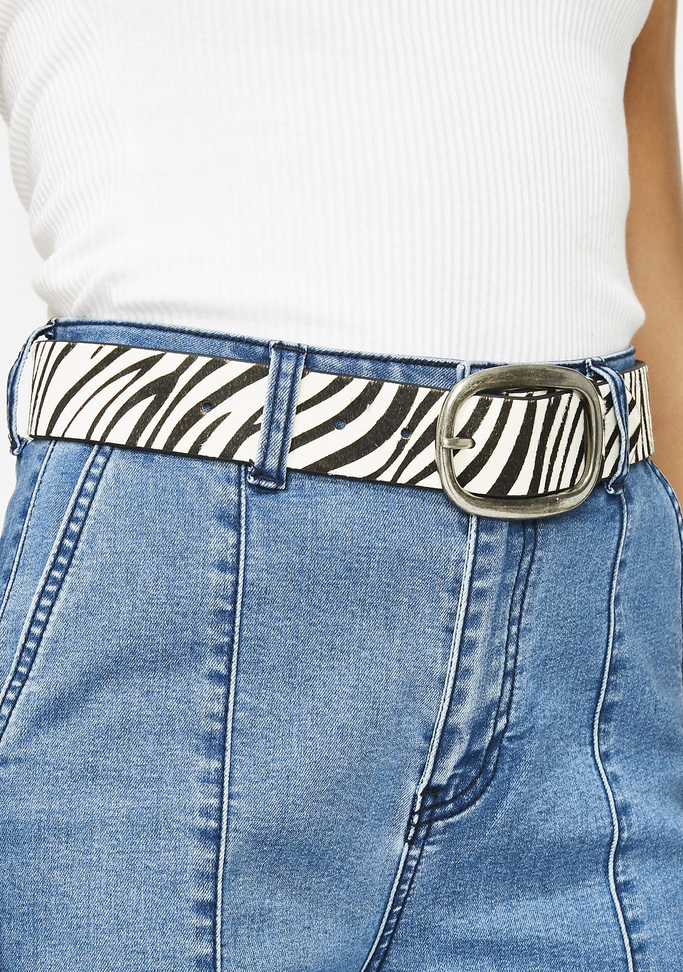 Set Me Free Zebra Belt