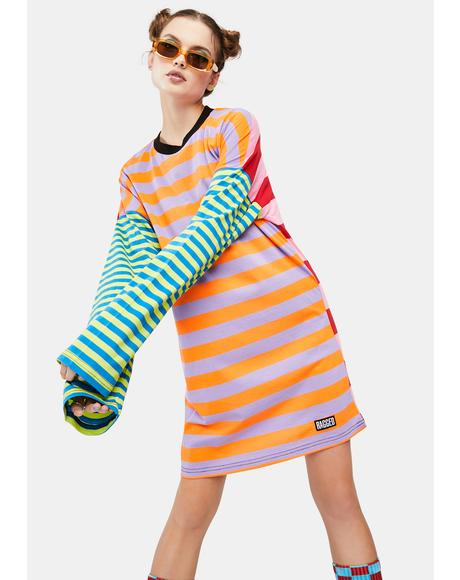 Revert Striped Long Sleeve Tee Dress