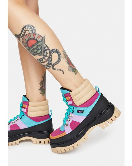 Peace Craft Colorblock Boots