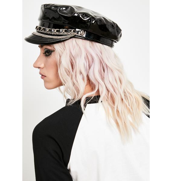 Ride It Right Patent Biker Hat