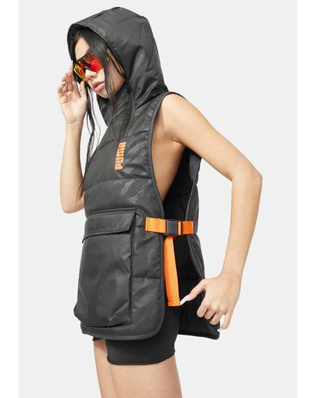x Central Saint Martins Padded Hoodie Vest