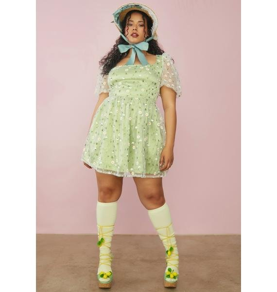 Sugar Thrillz BB Come Away With Me Daisy Babydoll Dress