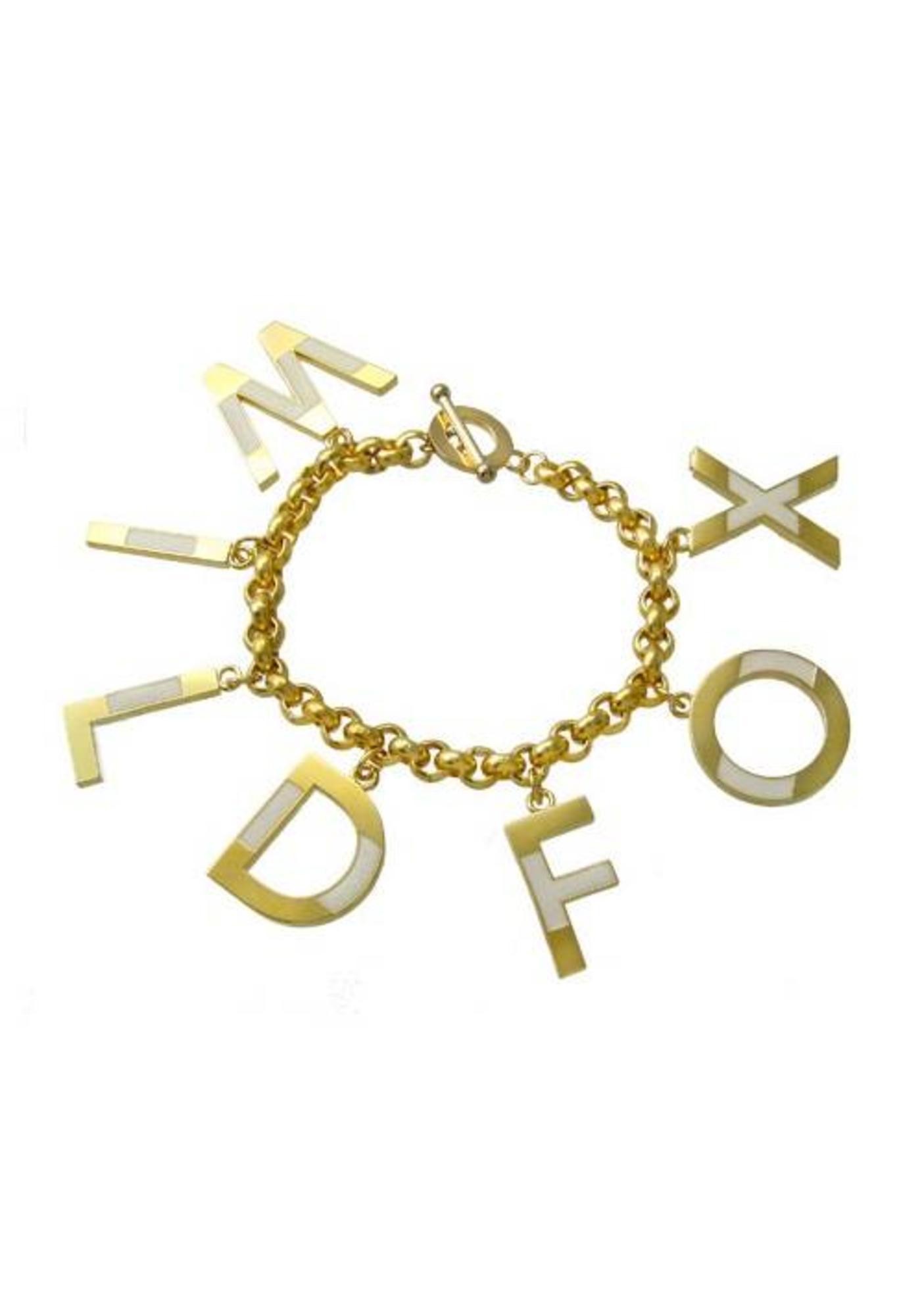 Wildfox Couture Letter Bracelet