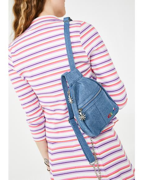 Totally Clueless Denim Backpack