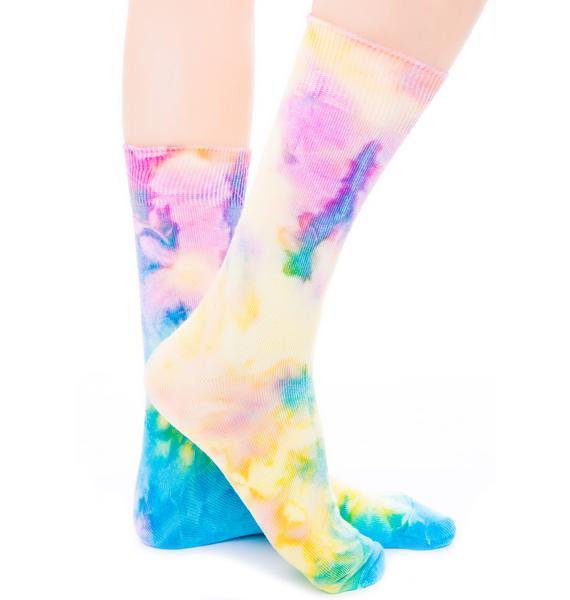 O Mighty Rainbow Hoe Socks