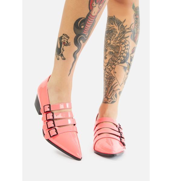 Strange Cvlt Pink Coven Block Heels