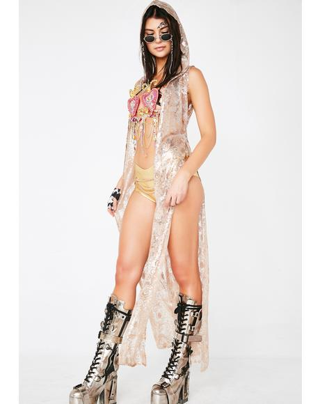 Champagne Fairy Sequin Duster