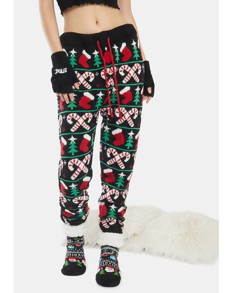 Candy Cane Christmas Tree Holiday Pants