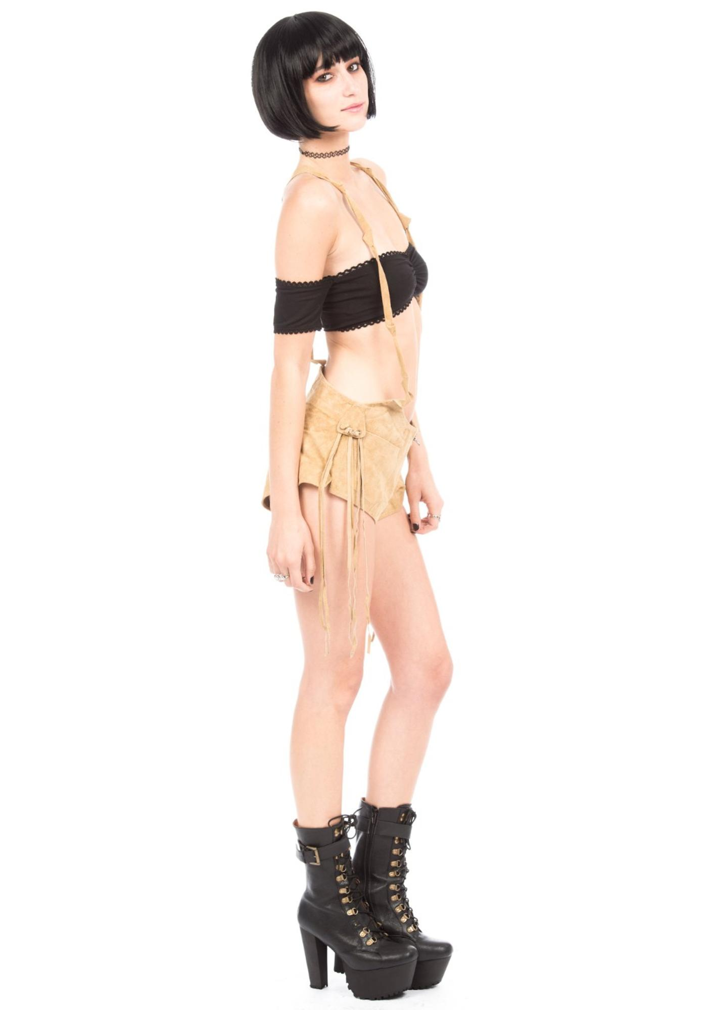 One Teaspoon Revolve Suede Short