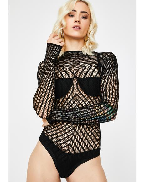 Got U Hypnotized Sheer Bodysuit