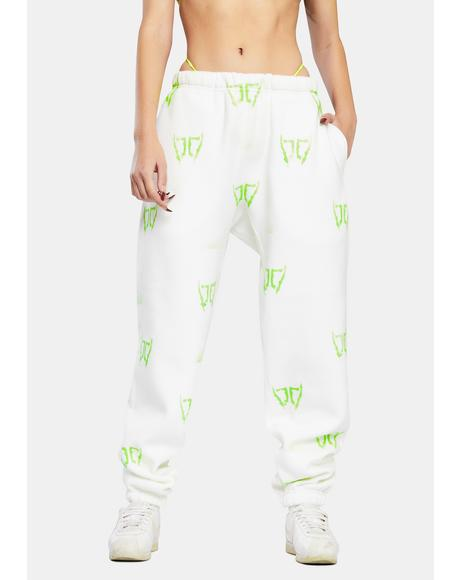 Green DB Wings Sweatpants