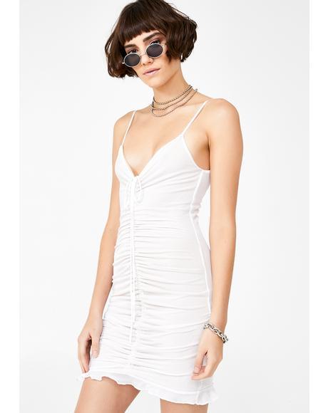 Angel So Flirtatious Shirred Dress