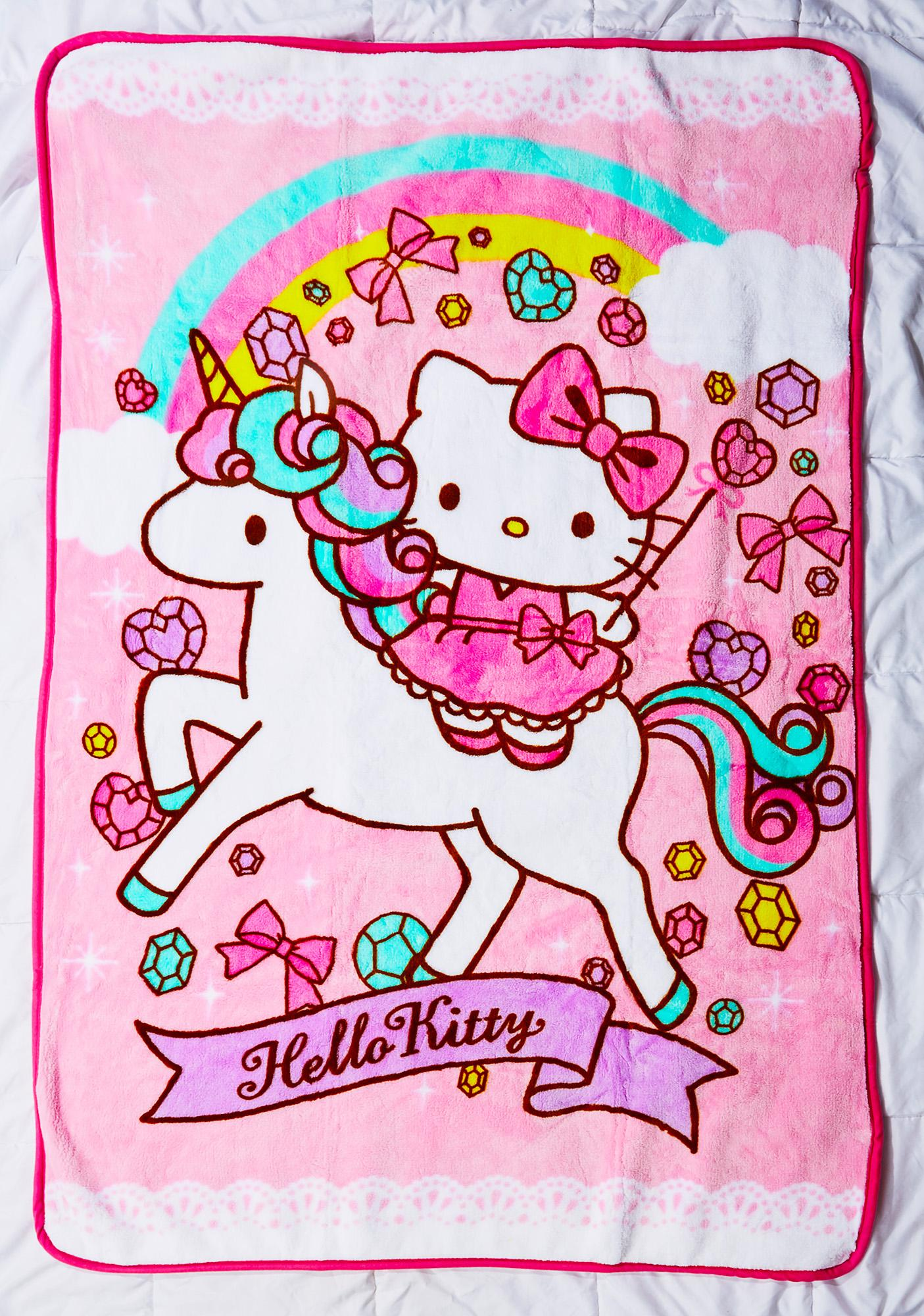 Sanrio Unicorn Kitty Blanket | Dolls Kill