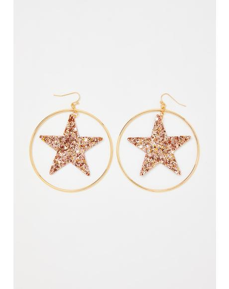 Gold You're My Superstar Hoop Earrings