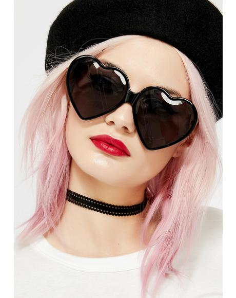 Dark Love Visionz Heart Sunglasses