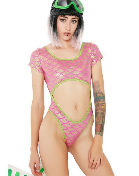 Coral Reef Queen Cutout Bodysuit
